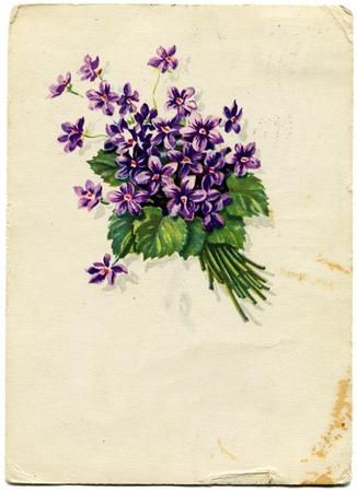 Snowdrops - picture artist A  Antonchenko, USSR, 1964