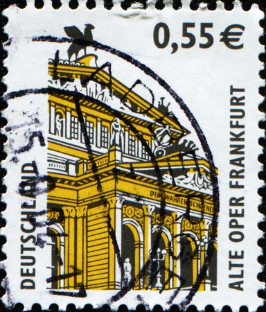 GERMANY - CIRCA 2002: A stamp printed in German Federal Republic shows Old Opera House, Frankfurt, circa 2002 photo