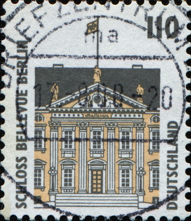 GERMANY - CIRCA 1998: A stamp printed in Germany shows Schloss Bellevue in Berlin, circa 1998  photo