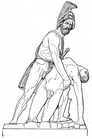 corpse: Menelaus with the corpse of Patroclus