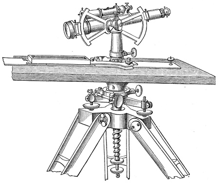 telescopic: Plane table with telescopic alidade Stock Photo