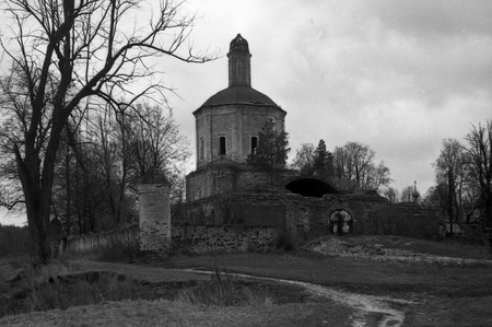 church in the village Agafonov, Odintsovo district, Moscow region, Russia, 1977 Stock Photo - 12971825