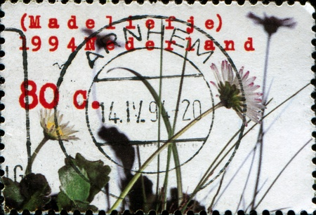 daisie: NETHERLANDS - CIRCA 1994: A stamp printed in Netherlands shows c circa 1994 Editorial