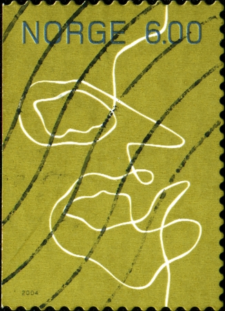 NORWAY - CIRCA 2004: A stamp printed in Norway shows symbolizing the communication wires, circa 2004  photo