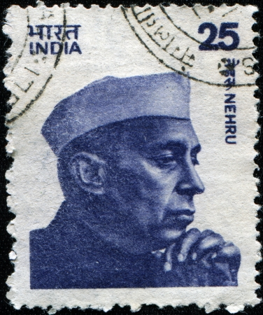 prime: INDIA - CIRCA 1983: A stamp printed in India shows Jawaharlal Nehru (d. 1964), Indias longest serving Prime Minister, circa 1983