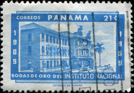 PANAMA - CIRCA 1959: A stamp printed in Panama honoring Golden Jubilee of the National Institute, circa 1959 photo