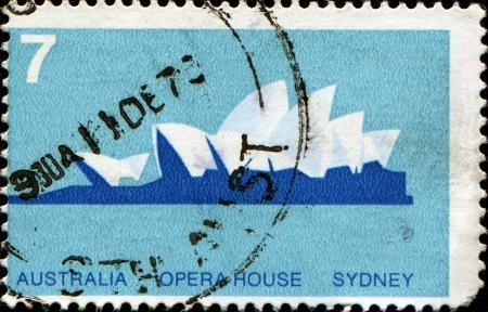 AUSTRALIA - CIRCA 1973  A stamp printed in Australia shows Opera House, Sydney, circa 1973