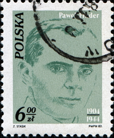 POLAND - CIRCA 1982  A stamp printed in Poland shows Pawel Finder - Polish Communist leader and First secretary of the Polska Partia Robotnicza  PPR  from 1943 to 1944, circa 1982