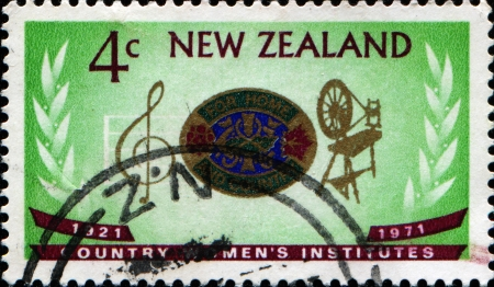NEW ZEALAND - CIRCA 1971  Stamp printed in New Zealand dedicated 50 years of Country Women photo