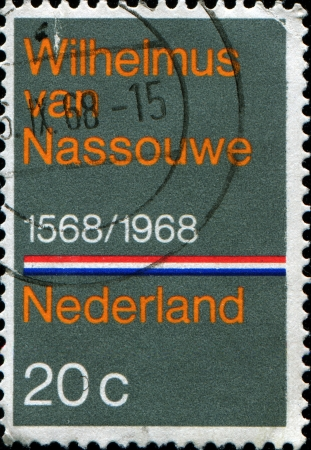 anthem: NETHERLANDS - CIRCA 1968  Stamp printed in Netherlands honoring Wilhelmus van Nassouwe is the national anthem of the Netherlands, circa 1968