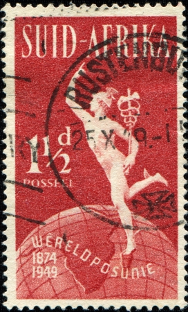 SOUTH AFRICA - CIRCA 1948  A stamp printed in South Africa shows Hermes, circa 1948 photo