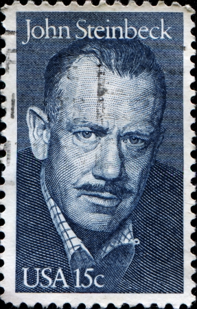 novelist: UNITED STATES - CIRCA 1979  A stamp printed in United states shows John Steinbeck  1902-1968 , circa 1979