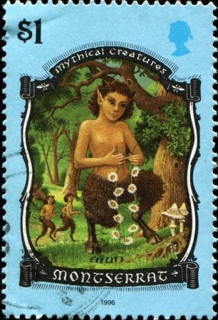 kingdom of god: GREAT BRITAIN - CIRCA 1996  A stamp printed in the Great Britain shows Faun, circa 1996
