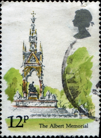 UK - CIRCA 1980  A stamp Printed in United Kingdom shows Albert Memorial, circa 1980  photo
