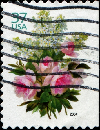 USA - CIRCA 2004  Greetings Stamps printed in the USA shows Bouquet  of flowers, circa 2004 photo