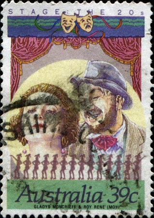 HUNGARY - CIRCA 1951  A stamp printed in Hungary shows Workman instructing apprentices, 1st Anniv of Five Year Plan series, sirca 1951