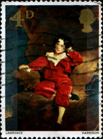 UNITED KINGDOM - CIRCA 1976  A stamp printed in Great Britain shows paint Master Charles William Lambton by Sir Lawrence  Harrison, circa 1976