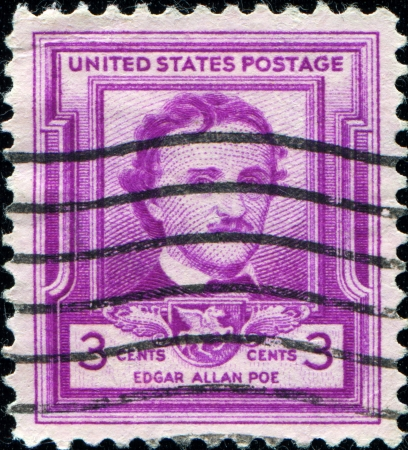 UNITED STATES - CIRCA 1949  A stamp printed in United States of America shows Edgar Allan Poe, circa 1949  Stock Photo - 14200671