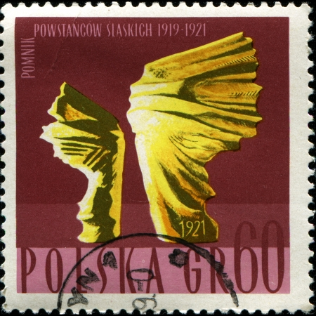 insurgents: POLAND - CIRCA 1967 A stamp printed in Poland shows Silesian Insurgents Monument, circa 1967