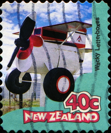 wacky: NEW ZEALAND - CIRCA 1997  A stamp printed in New Zealand shows Wacky - Letterboxes, circa 1997