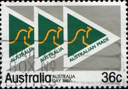 AUSTRALIA - CIRCA 1987  A stamp printed in Australia honoring Australia Day 1987  Australian Made , circa 1987  photo