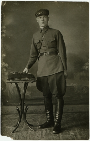 commander: commander of of the Soviet Army, , the USSR, 1930s