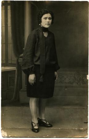 elan: Women s growth portrait, Elan, now Volgograd Region, Russia, USSR, 1929 Editorial