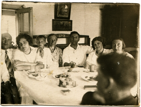 USSR - CIRCA 1936  Family Feast, circa 1936 Stock Photo - 14499748