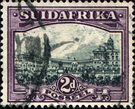SOUTH AFRICA - CIRCA 1926  A stamp printed in South Africa shows Union Buildings, Pretoria, circa 1926