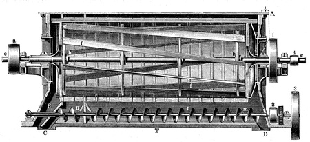 past production: mill, a centrifugal sieve Nagel and Kemp - an illustration of the encyclopedia publishers Education, St  Peterburg, Russian Empire, 1896  Editorial