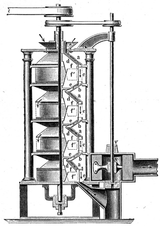 publishers: Shelling Machine - an illustration of the encyclopedia publishers Education, St  Peterburg, Russian Empire, 1896