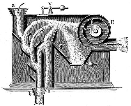 winnowing: Wind winnowing - an illustration of the encyclopedia publishers Education, St  Peterburg, Russian Empire, 1896