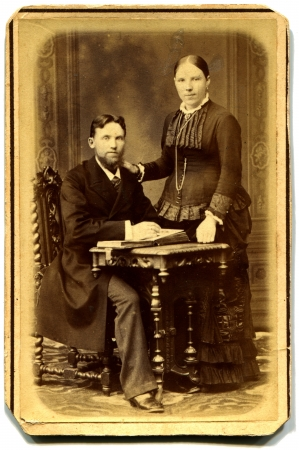 xx century: RUSSIA - CIRCA end of the XIX - the beginning of XX century  couple, Moskow, Russian Empire