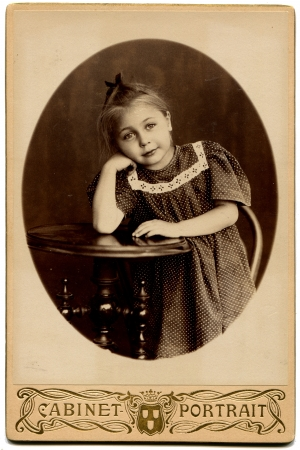 xx century: RUSSIA - CIRCA end of the XIX - the beginning of XX century  An antique photo shows girl