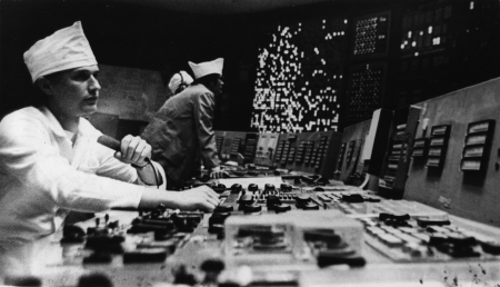 Kursk NPP in Kurchatov, Alexei Ivlev, Senior Engineer of the control gear of the 1st unit  He is a graduate of the Tomsk Polytechnic Institute and held practice at this nuclear power plant  USSR, Kurchatov, Kursk rgion, July 1979 Stock Photo - 14541791