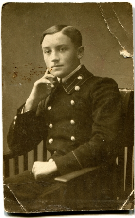 xx century: RUSSIA - CIRCA end of the XIX - the beginning of XX century  man in uniform in the armchair, Russian Empire