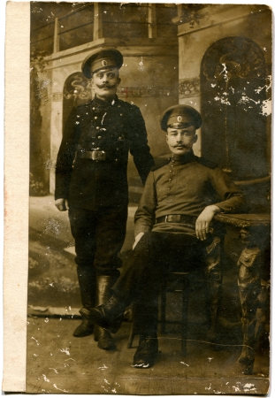 RUSSIA - CIRCA period of World War I  two soldiers, the Russian Empire