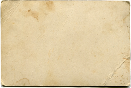 old photographs: back side of antique photo isolated on white