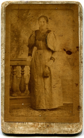 RUSSIA - CIRCA  the end of 19 - early 20century  An antique photo shows woman, Russian Empire