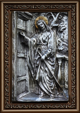 iconography: Metal Icons Jesus knocks at your door