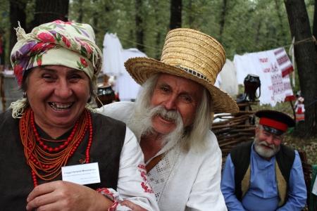 cossack: STANITSA LUGANSKAYA, UKRAINE - SEPTEMBER, 8, 2012  Ukrainians from Poltava, International Cossack festival, Stanitsa Luganskaya, Ukraine, September 8, 2012 Editorial