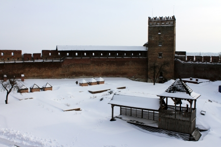 Belfry and watch tower, castle Lubart - Lutsk castle, Lutsk, Ukraine Stock Photo - 17261748