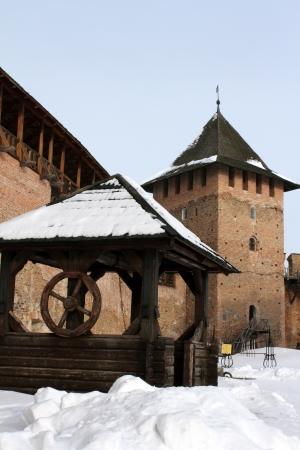 well against the prince tower Lubart Castle - Lutsk castle, Lutsk, Ukraine Stock Photo - 17261979