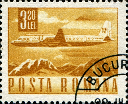 ROMANIA - CIRCA 1970  A stamp printed in Romania shows airplane, circa 1970  Stock Photo - 17262009