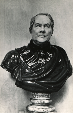 isaac s: bust of the architect Auguste Montferrand, St Isaac