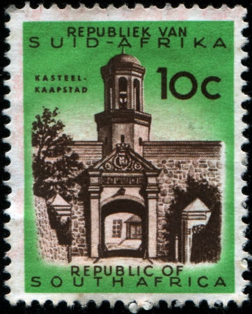 rsa: SOUTH AFRICA - CIRCA 1961  A stamp printed in South Africa  RSA , shows Castle of Good Hope, Cape Town, circa 1961
