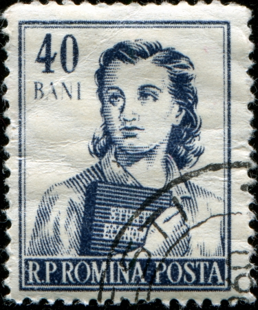 ROMANIA - CIRCA 1955: A stamp printed in Romania shows Girl student, series, circa 1955