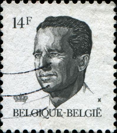 baudouin: BELGIUM - CIRCA 1982  A stamp printed in Belgium shows portrait of King Baudouin  Albert Charles Leopold Axel Marie Gustave de Belgique , circa 1982