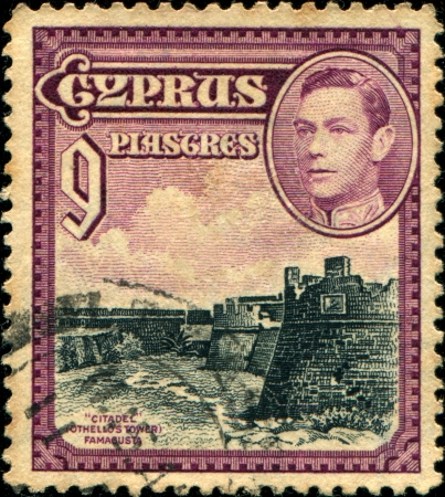 othello: CYPRUS - 1938  A stamp printed in Cyprus shows Citadel, Othello