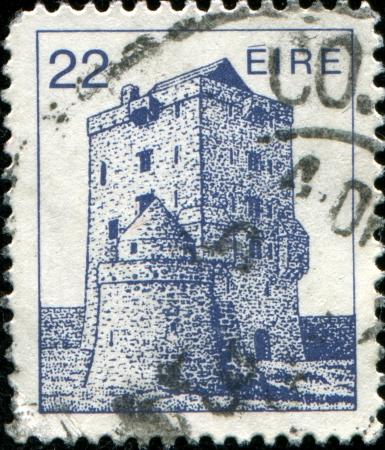 IRELAND-CIRCA 1982 A stamp printed in Ireland shows Aughnanure Castle , circa 1982 Stock Photo - 17269461